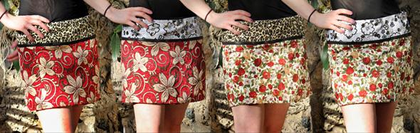 Kjoltyget presenterar sommarens snyggaste plagg. Varje kjol har fyra variationer